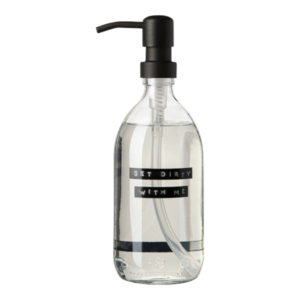 102532Dish soap transparent glass 500ML black GET DIRTY WITH ME 8719325913361