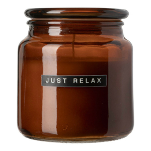 102534 Big scented candle amber glass cedarwood just relax 1 8720165018789 1