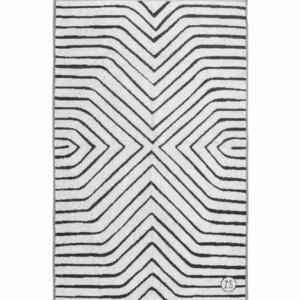 Zusss badhanddoek grafisch patroon 60x115cm grijs 0602 006 1015 00 voor