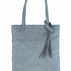 Zusss basic shopper met kwast grijs blauw 0205 007 1034 00 voor