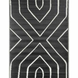 Zusss buitenkleed grafisch patroon 120x180cm zwart 1101 003 0000 00 voor