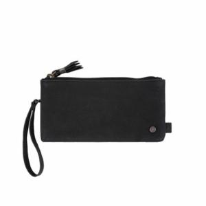 Zusss dubbele portemonnee mat zwart 0201 003 0017 00 voor