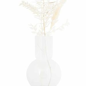 Zusss glazen bolvaas 17x30cm wit 0508 053 0500 00 voor