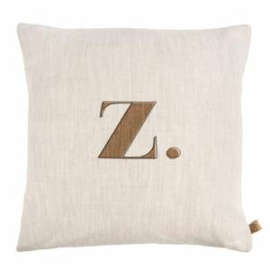 Zusss kussen letter Z 45x45cm peper en zout 0101 076 1032 00 voor