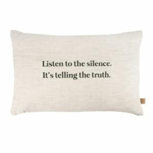 Zusss kussen listen to the silence 60x40cm peper en zout 0101 072 1032 00 voor