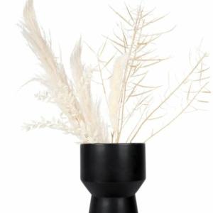 Zusss moderne vaas keramiek 16x27cm zwart 0508 051 0000 00 voor