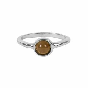 Zusss ring met steentje zilver muskaat 0404 007 5506 voor