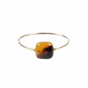 Zusss ring met vierkante steen bruin 0404 001 1500 voor