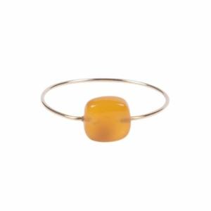 Zusss ring met vierkante steen oranje 0404 001 2000 voor