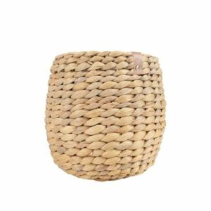 Zusss stoergevlochten mandje waterhyacint 15x15cm naturel 0505 052 1511 00 voor
